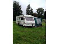 Compass Rallye 5 berth caravan with full awning
