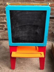 Early Learning Centre Double Sided Painting Easel & Blackboard
