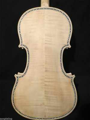 Guarneri style SONG unfinished Maestro inlay violin 4/4,white violin #9094