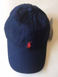 a8e8abaf1 Polo Ralph Lauren Baseball Cap Blue Red One Size Adults Unisex Clearance On  Sale