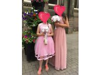 2 dusky pink bridesmaid dresses for sale