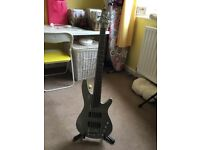 Ibanez SRX365 5 String Bass Guitar in Titanium Gray Used