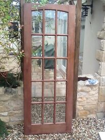 Glazed hardwood door