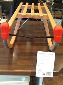 Sledge wooden and metal brand new