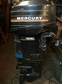 Mercury gold band 18hp outboard motor