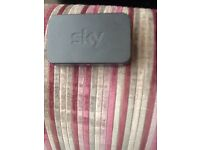 Sky wireless box set router. And sky had boxes available