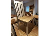 Solid oak extending dining table and 8 chairs - Delivery! *AS NEW* Save over £700