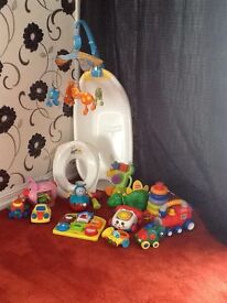Baby Toys, bath, and cot mobile