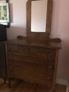 Antique Dresser drawer with mirror