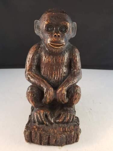 "Chimpanzee Statue Sculpture Figurine Animal Decor 7""h Vintage"