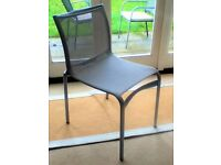 Set of 4 Modern Dining Table Chairs - Metal Screwed Frames and Mesh Design Support - Office Grade