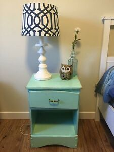 Mint Green End Table  Edmonton Edmonton Area image 1