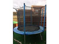 Trampoline - 8' with safety enclosure and ladder