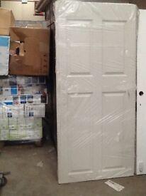 white fire door solid heavy duty