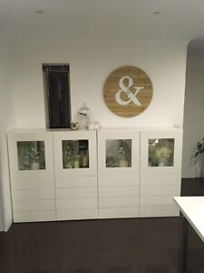 2 Matching white Wall units -Display cabinets Cleveland Redland Area Preview