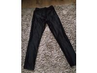 Hearts and Bows Black shiny disco pants size 8