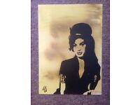 Original Acrylic Art 'Amy' NOT A PRINT