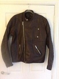 Brown leather bikers jacket