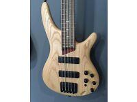 Ibanez SR605 5-String Bass Guitar (Natural Flat)