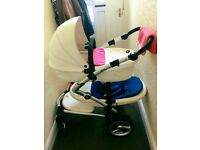Mima Kobi double Snow White - SWAP FOR BUGABOO DONKEY DUO OR CITY SELECT DOUBLE ONLY!!!