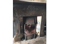 Stunning cast iron fire surround