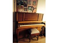 Upright Piano with Stool - Great condition, last tuned 1 year ago