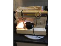 Old heavy duty TOYOTA electric sewing machine with zig zag & button hole settings full working