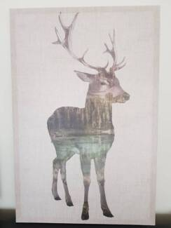 Deer wall canvas - perfect condition