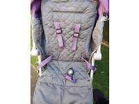 Maclaren techno XLR in charcoal and purple £75 - pram