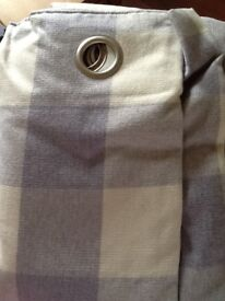 Curtains, NEXT BRAND NEW wool, fully lined, Mauve/purple and cream check eyelets 228x228 (90x90)