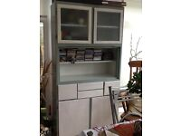 30's Kitchen Cabinet - Partly up cycled . Paint project