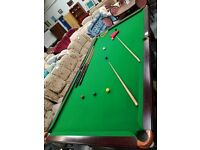 Full-size Mahogany Snooker Table