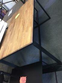 Hiba Oak and Steel Table