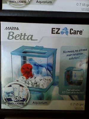 Marina Betta Aquarium Starter Kit, Blue Swirl New