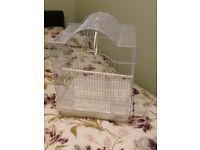 Small white bird cage