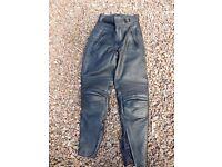 Ladies Belstaff leather motorbike trousers