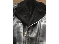 Ladies leather sheepskin jacket in new condition.