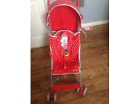 minnie mouse stroller with raincover