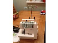 Dragonfly 858 coverlock sewing machine.