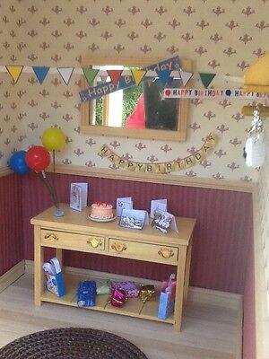 Dolls house miniature 12th scale - Birthday decoration set
