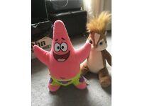 Build a bear Patrick star sponge bob chip monks Alvin
