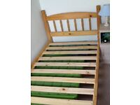 Pine single 3ft bed.