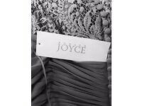 BNWT Ronald Joyce Grey Bridesmaid/Prom Dress