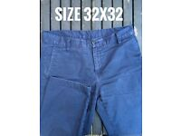 carhartt pant trousers used good condition 32 blue