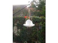 Attractive hanging tea cup bird feeders