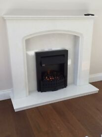 """White Marble Fireplace 48"""""""