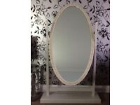 Very good condition genuine French cheval mirror. Full length mirror