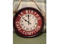 Le Bistro Cafe-Comptoir Wall Clock