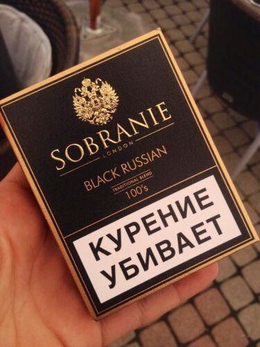 SOBRANIE Black Russia price per pack empty