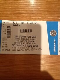 2 Pairs of Rod Stewart tickets (4 tickets in total) for Nottingham 10th December